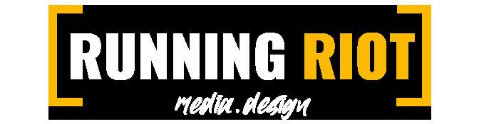Running Riot Wortmarke. Unsere Marke bedeutet Leidenschaft für Marketing, Grafikdesign, Webdesign und Fotografie.